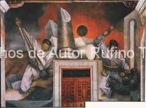 Derechos de autor Rufino Tamayo - Pintura mural - Revolución - 1938