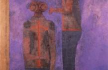 Dos figuras sobre fondo morado, 1978