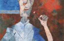 Hombre con flor, 1989