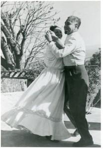 Rufino y Olga en su casa, 1949