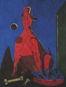 Perro ladrando a la luna, 1942