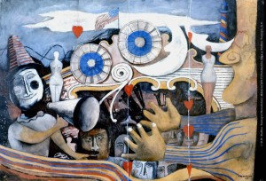 Rufino Tamayo Carnaval, 1936 Gouache sobre papel 35 x 47.5 cm Copyright: © D.R. Rufino Tamayo/Herederos/ México/2017/Fundación Olga y Rufino Tamayo, A.C