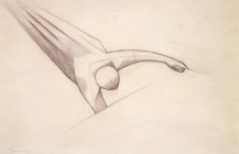 """Boceto""""La naturaleza y el artista; la obra de arte y el espectador"""", 1942"""