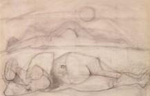 """Boceto para el óleo """"Músicas dormidas"""", 1950"""