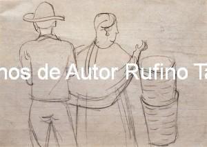 Boceto para la acuarela Después del mercado, 1947 E
