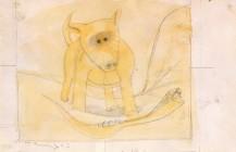 """Boceto para el óleo """"Perro y serpiente"""", 1943"""