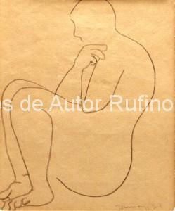 Desnudo femenino de perfil, 1930 E
