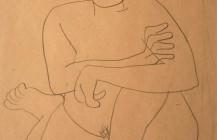 Desnudo semi hincado, 1929