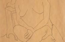 Desnudo sentado sobre una cama, 1929