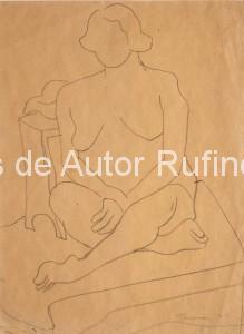 Desnudo sentado sobre una cama, 1929 E