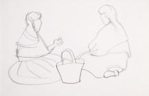 Dos mujeres sentadas, 1950
