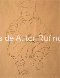 Niño sentado, 1929 E