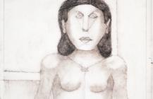 """Boceto para la serigrafía """"Mujer enojada"""", 1989"""