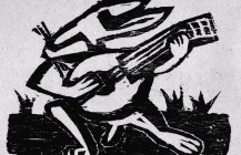 Conejo con mandolina, 1931