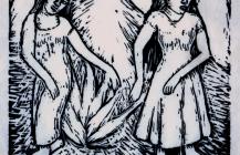 Dos niñas mexicanas, 1925