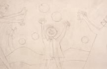 """Boceto para la serigrafía """"Familia jugando"""", 1983"""