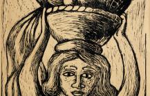 Mujer con cesto de fruta, 1925
