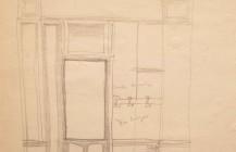 """Boceto para el óleo """"Tienda cerrada"""", 1958"""