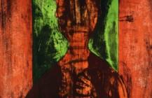 Hombre en fondo verde, 1980