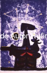 Hombre, luna y estrellas, 1950 bj