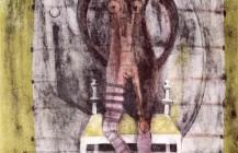Mujer con medias malva, 1969