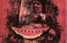 Mujer con sandía, 1950