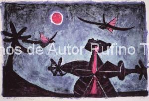 Observador de pájaros Litografía 1950 E