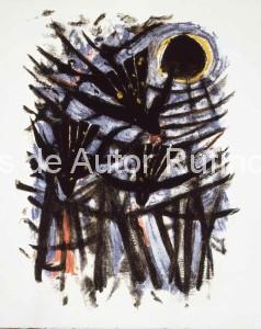 Sin título (Tres aves y el sol) 1952 E