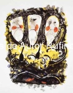 Sin título (Tres máscaras y tres alacranes) 1952