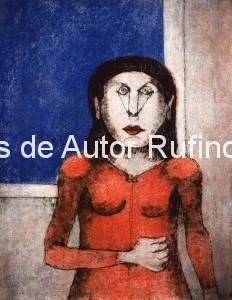 Tamayo, Rufino-Mujer enojada, 1989