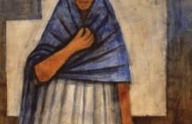 Mujer con rebozo y mano en el pecho, 1939